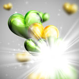 Holiday illustration of festive flying balloon hearts wit Royalty Free Stock Photography