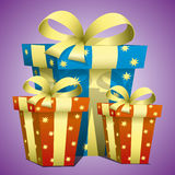 Holiday illustration. Presents. Royalty Free Stock Images
