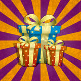Holiday illustration. Presents. Royalty Free Stock Photography