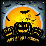 Holiday illustration on theme of Halloween. Wishes for Happy Halloween. Trick or treat Stock Photo