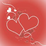 holiday Ilustración del vector Tarjeta roja, te amo Fotos de archivo libres de regalías