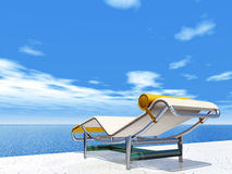 Holiday Impression with Deck Chair 库存照片