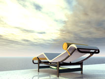Holiday Impression with Deck Chair Stock Photos