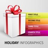 Holiday infographics Stock Photo