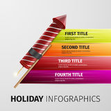Holiday infographics. Holiday salute, excellent vector illustration, EPS 10 Stock Photography