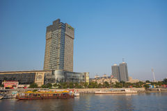 Holiday Inn building on Tianwei rd. in Tianjin city,China. Tianjin - September 19 : Cityscape of Holiday Inn building on Tianwei rd. This hotel locate near by royalty free stock images