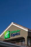 Holiday Inn Express Sign at night Stock Images