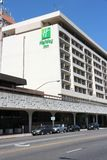 Holiday Inn. FRESNO, UNITED STATES - APRIL 12, 2014: Holiday Inn hotel in Fresno, California. Holiday Inn is a part of InterContinental Hotels Group and has 3 stock photo