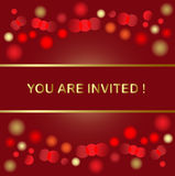Holiday invitation. Holiday light background with copyspace Stock Photos