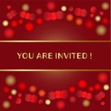 Holiday invitation Stock Photos