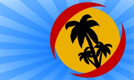Holiday island illustration Royalty Free Stock Images