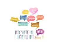 Holiday January 11 - International Thank You day. Royalty Free Stock Photo