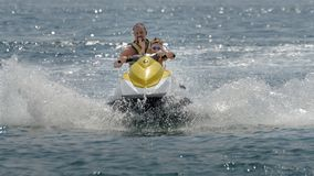 Family Jet skiing Black sea Golden Sands Varna Bulgaria royalty free stock images