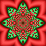 Holiday Kaleidoscope. Abstract kaleidoscope in christmas colors of red and green Stock Image