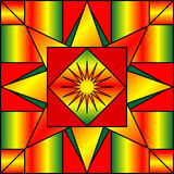 Holiday Kaleidoscope. Kaleidoscope in christmas colors of red, yellow and green Royalty Free Stock Photo