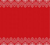 Holiday knitted red ornament design with empty space for text. Christmas seamless pattern. vector illustration