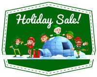 Holiday label Stock Images