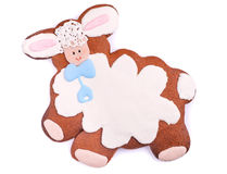 Holiday lamb Cookie over White Stock Photo