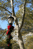 Holiday Lamp. NYC Holiday Lamp royalty free stock image