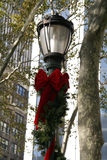 Holiday Lamp. NYC Holiday Lamp royalty free stock photography