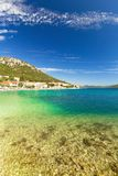 Holiday landscape, View of blue Adriatic sea coast on summer day Royalty Free Stock Photography