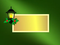 Holiday Lantern Greeting Card Royalty Free Stock Photography