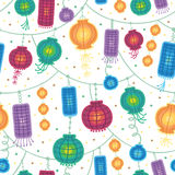 Holiday lanterns seamless pattern background Stock Photo