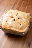 Holiday leftover turkey pot pie Royalty Free Stock Images