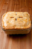 Holiday leftover turkey pot pie Stock Photography