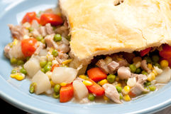 Holiday leftover turkey pot pie Stock Image