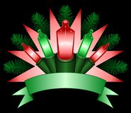 Holiday light banner Royalty Free Stock Image