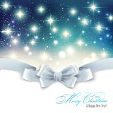 Holiday light Christmas background with white silk Royalty Free Stock Photos