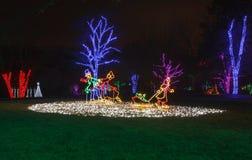 Holiday Light Display Stock Photo