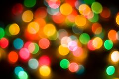 Holiday lights background. Colorful holiday lights abstract,out of focus Royalty Free Stock Images