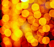 Holiday lights background. Colorful abstract gold holiday lights background stock photography
