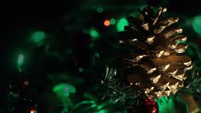 Holiday lights background video stock video footage