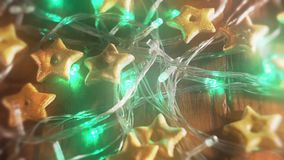 Holiday lights background video stock footage