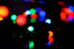 Holiday lights with bokeh background Stock Photo