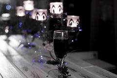 Holiday. Lights and candles. A fun event stock photos
