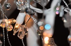 Holiday Lights for Christmas. The holiday lights create a peaceful, relaxing mood. The blurred background highlights the beauty of the shot royalty free stock photos