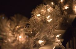 Holiday Lights for Christmas. The holiday lights create a peaceful, relaxing mood. The blurred background highlights the beauty of the shot royalty free stock photography