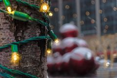 Holiday Lights in the City Stock Images