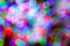 Holiday Lights Create Colorful Bokeh Background Royalty Free Stock Photo