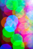 Holiday Lights Create Colorful Bokeh Pattern Royalty Free Stock Photo