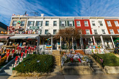 Holiday Lights and Decoration in Hampden, Baltimore Maryland.  stock photography