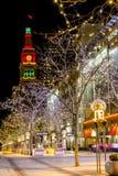 Holiday Lights in Denver Colorado USA Royalty Free Stock Photos