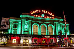 Holiday Lights in Denver Colorado USA Stock Photo