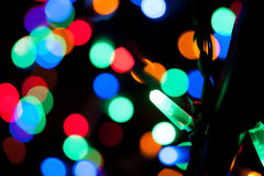 Holiday lights of a garland Stock Images