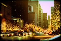 Holiday Lights on Michigan Avenue Royalty Free Stock Photos