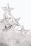 Holiday lights with white background Royalty Free Stock Photo